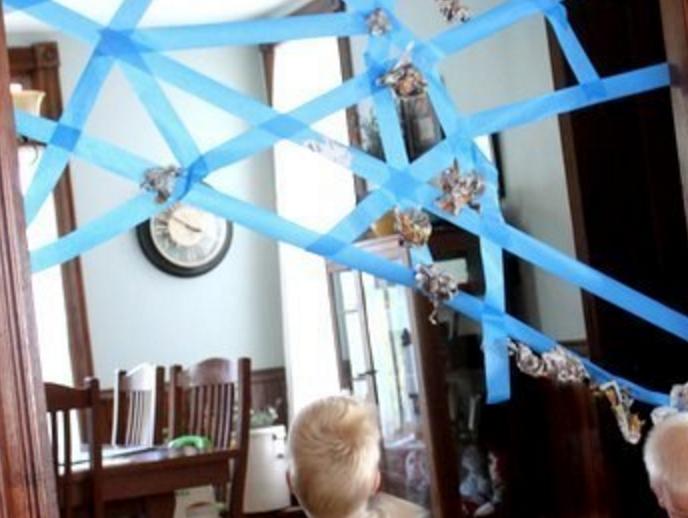 Spindelnät - en aktivitet där barnet skapar